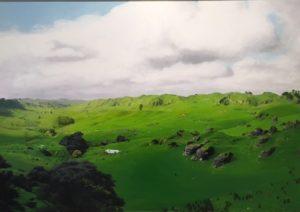 Glencairn (GPS 37.39073, 174.84199), 2015 Trenton Garrett (b 1980) Oil on Canvas 600mm x 850mm